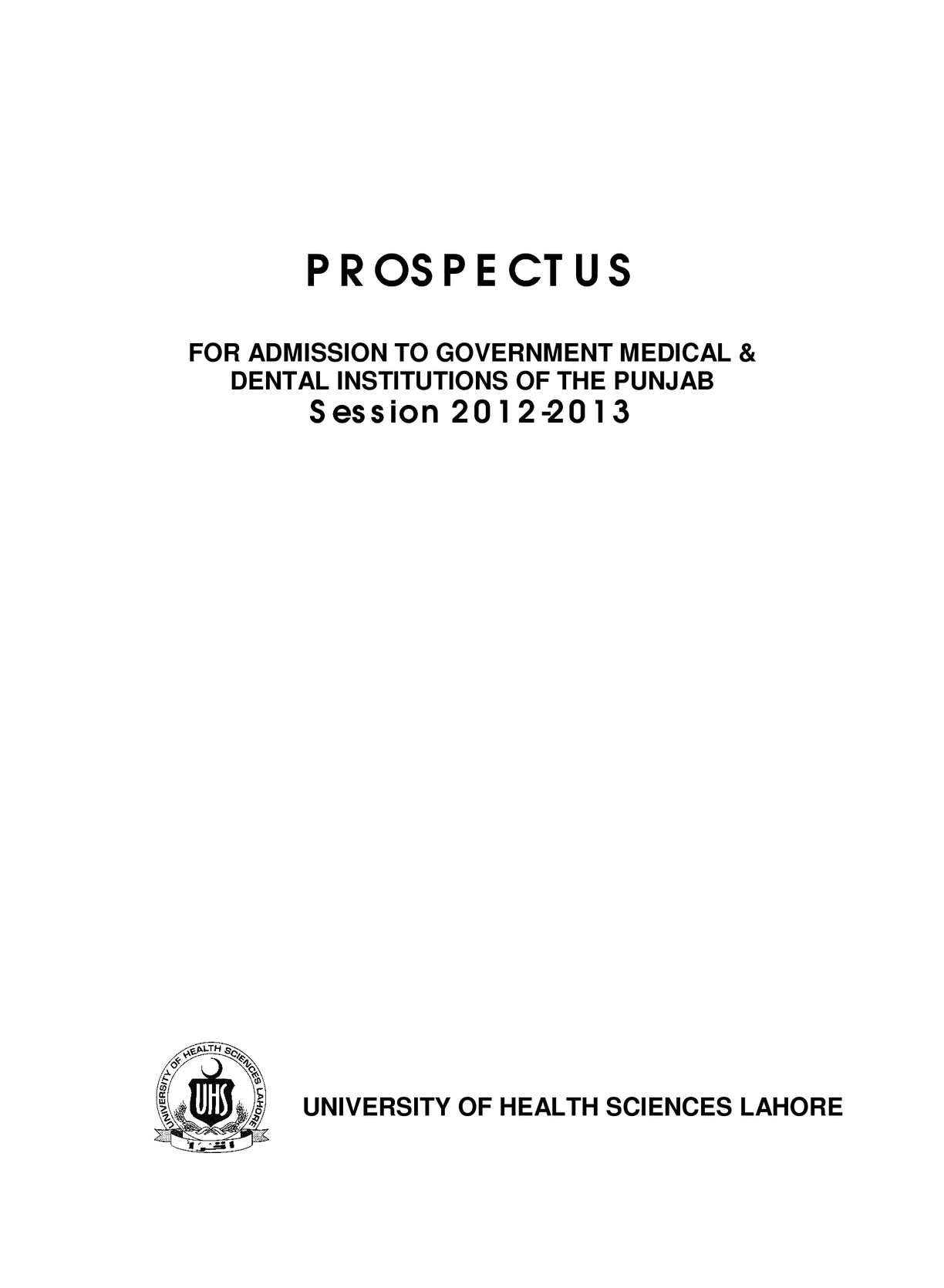Calaméo - PROSPECTUS (For Admission to Government Medical & Dental ...