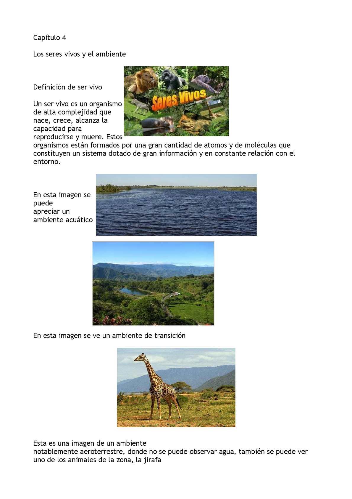 Calam o cap tulo 4 los seres vivos y el ambiente for Ambientes de argentina