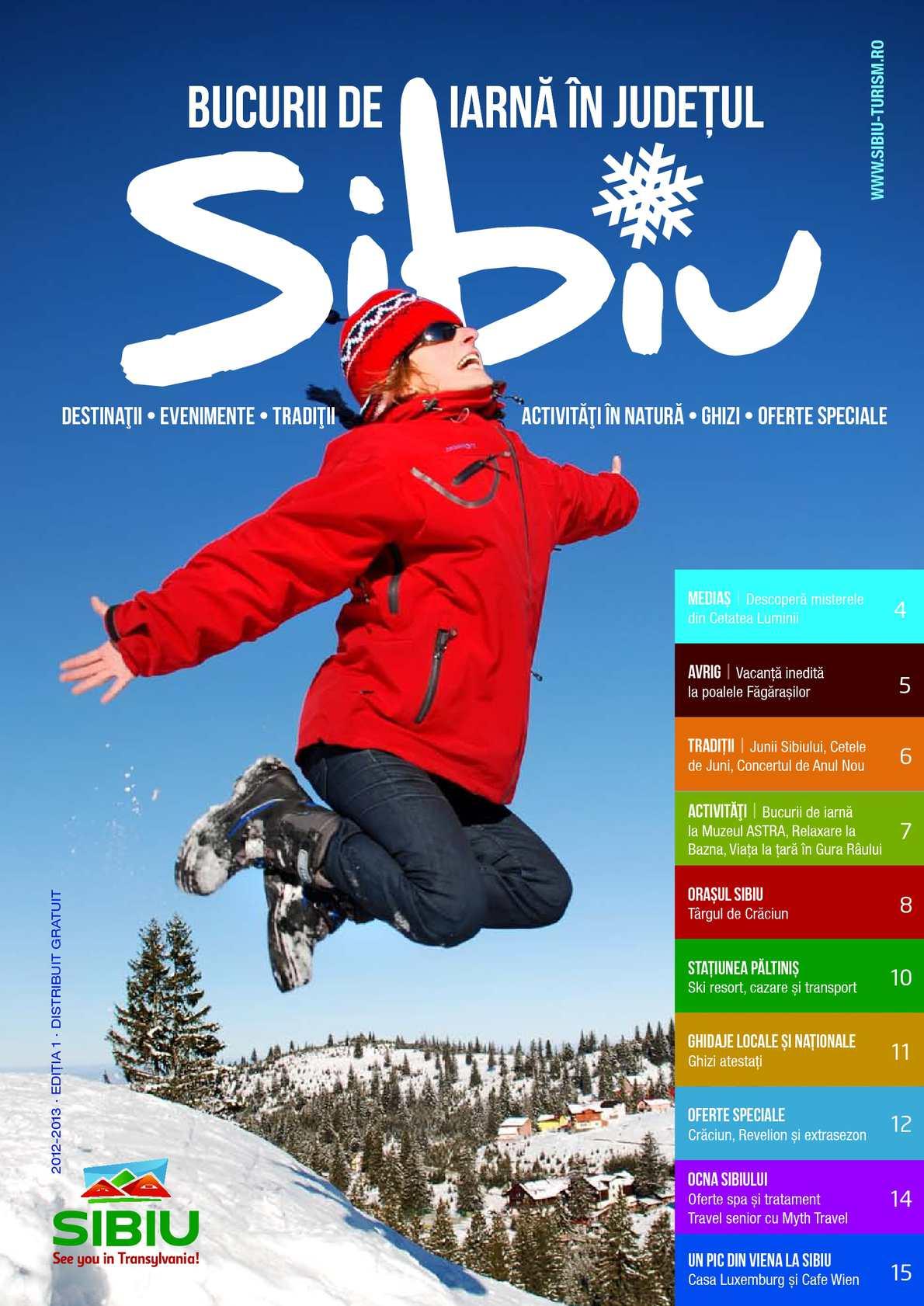 Bucurii de iarnă în judeţul Sibiu