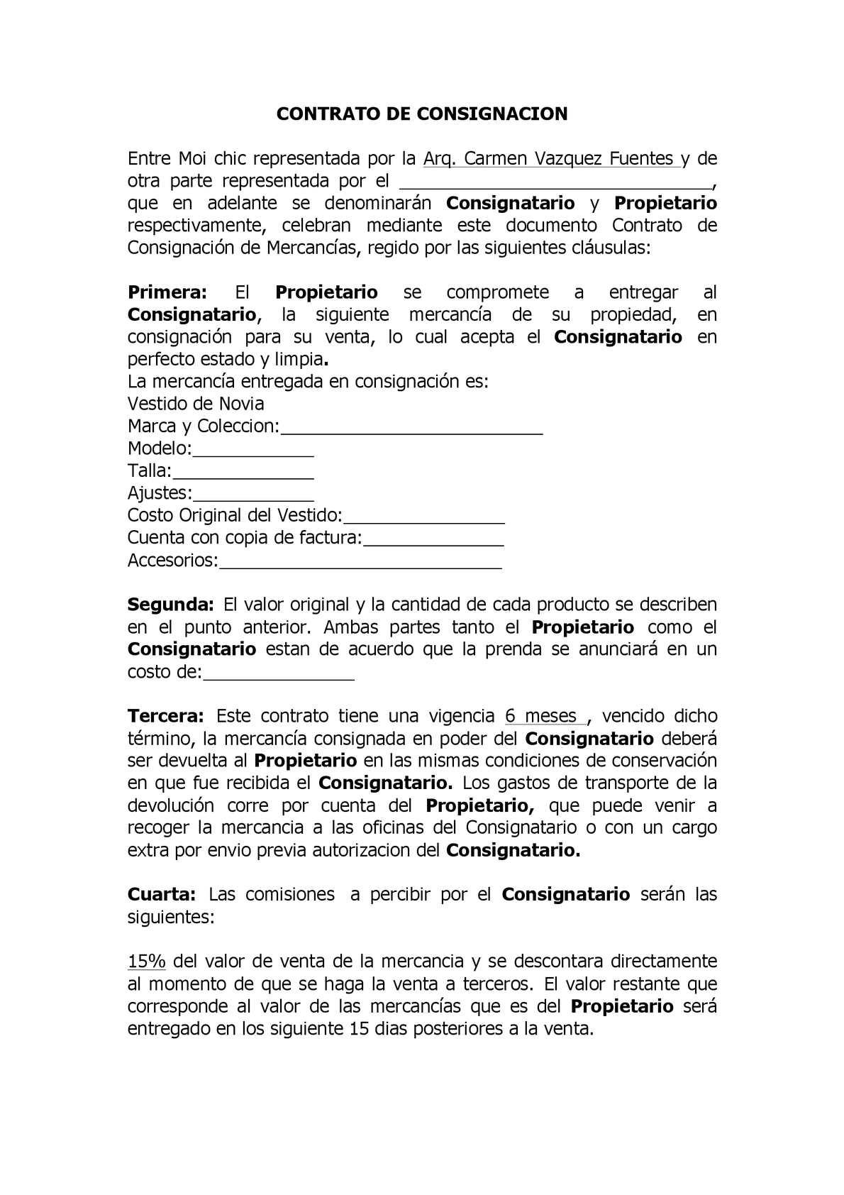 Calaméo - CONTRATO DE CONSIGNACION