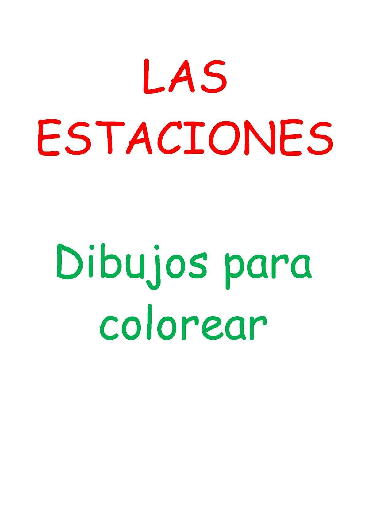 Calaméo - Estaciones - dibujos para colorear