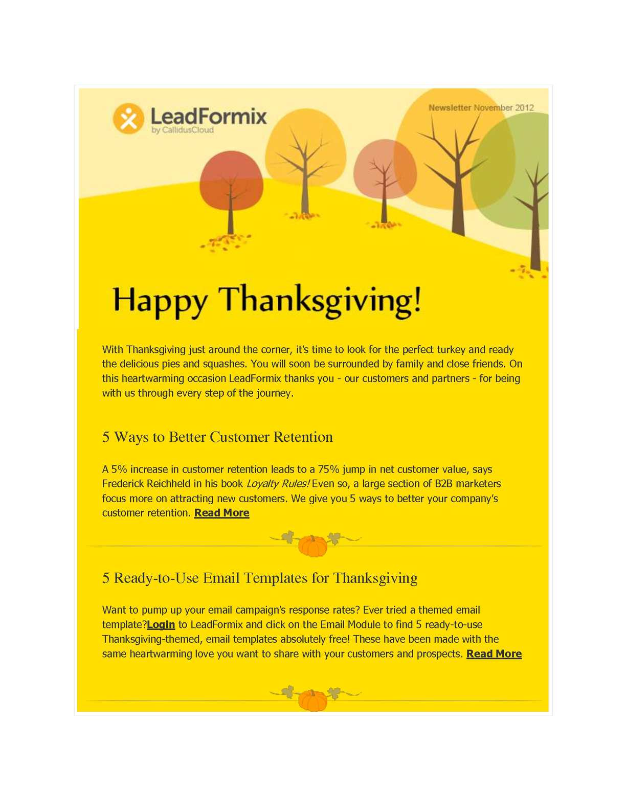 Calamo Happy Thanksgiving Leverage The Power Of Leadformix To