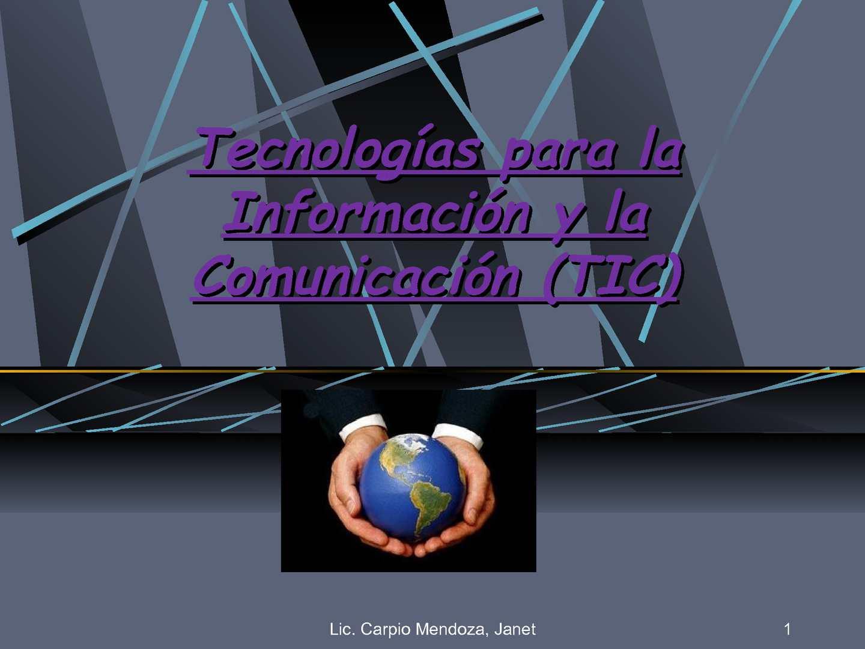 Tecnología de la información y la comunicación 2