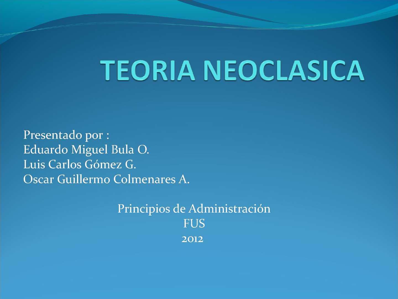 Calaméo - TEORÍA NEOCLASICA