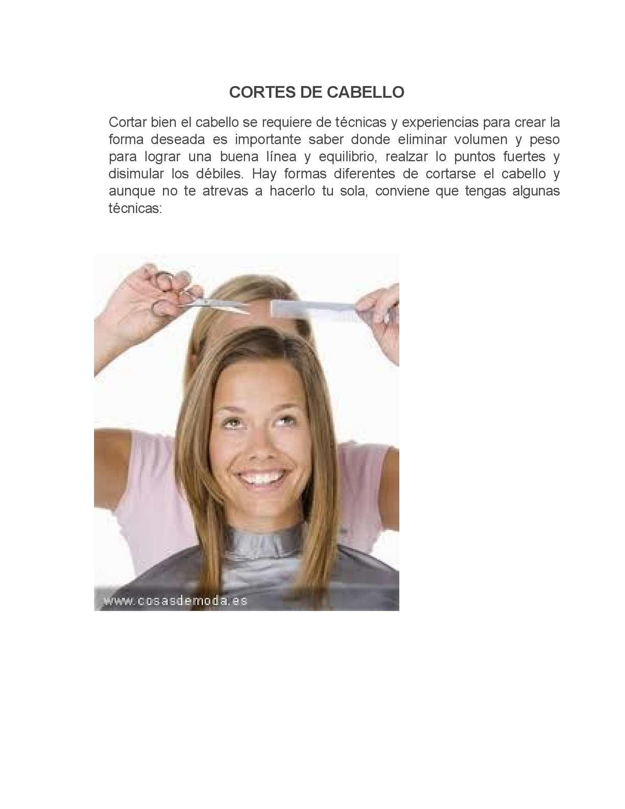 Corte de cabello en capas verticales