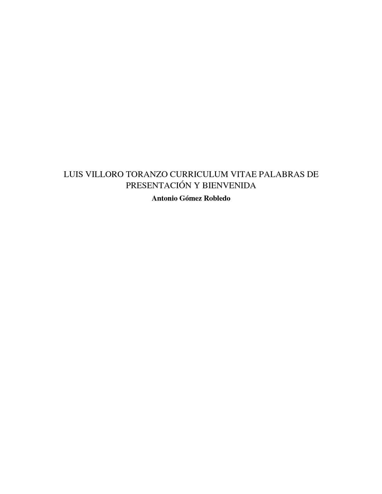 Calaméo - Luis Villoro Toranzo Curriculum vitae Palabras de ...