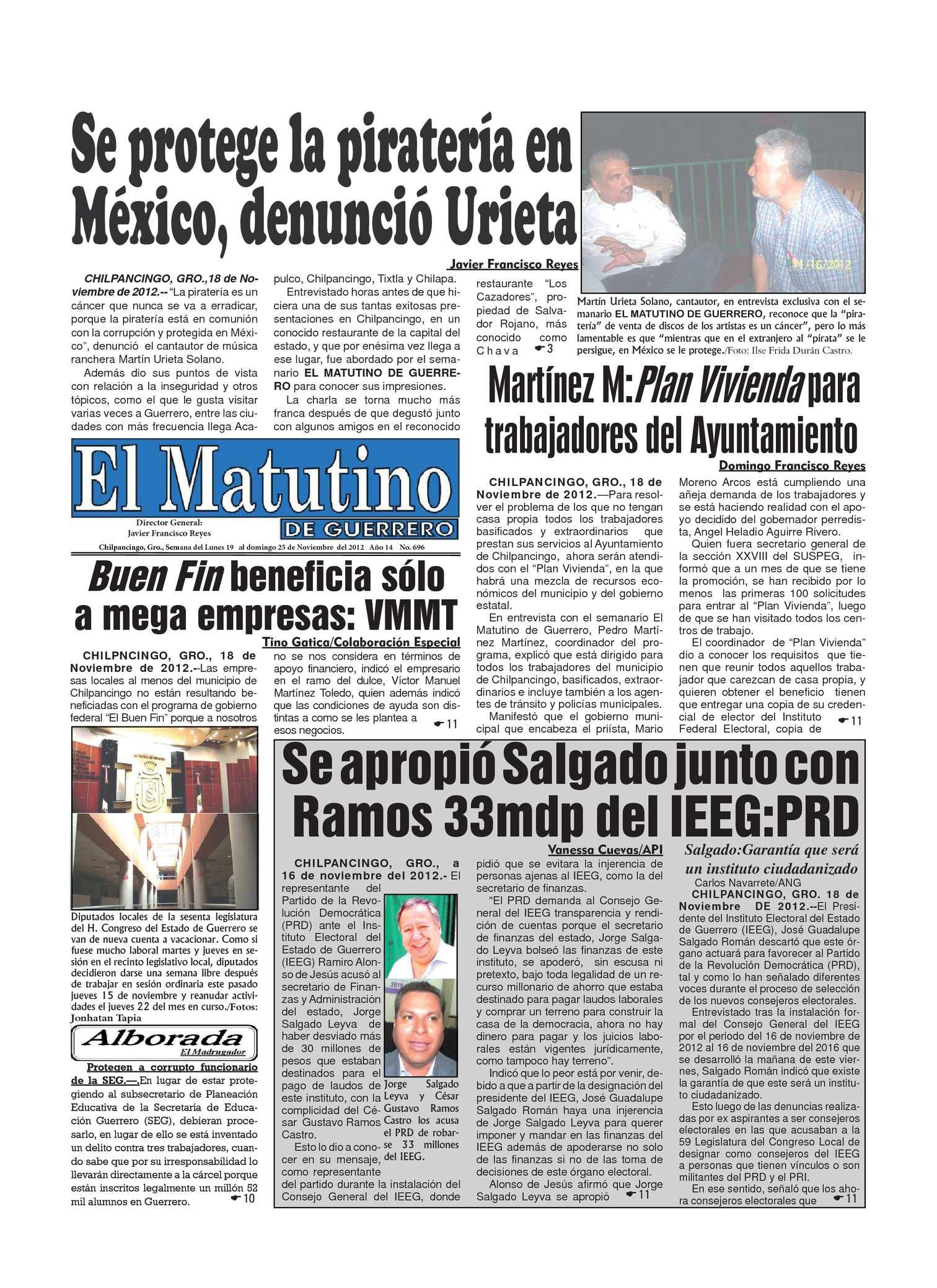 Calaméo - El Matutino 19-25 de noviembre