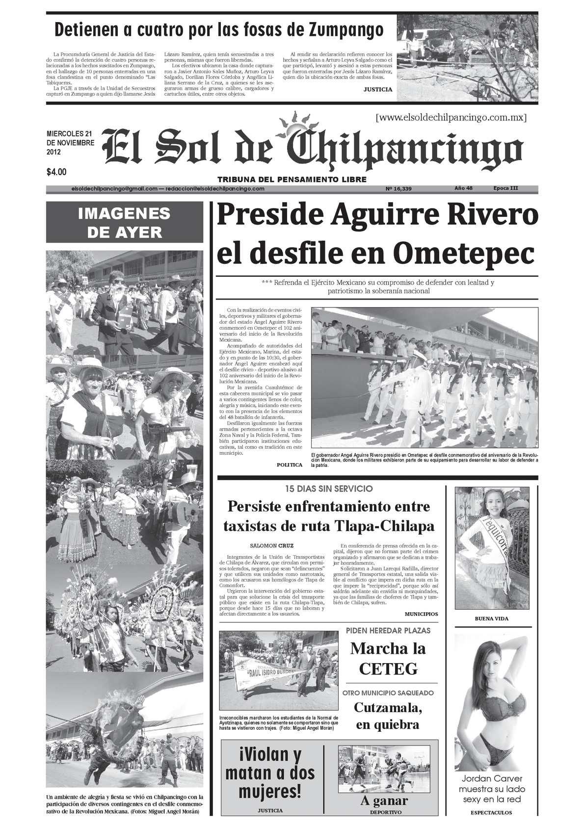 Calaméo - El Sol de Chilpancingo - 21 Noviembre 2012