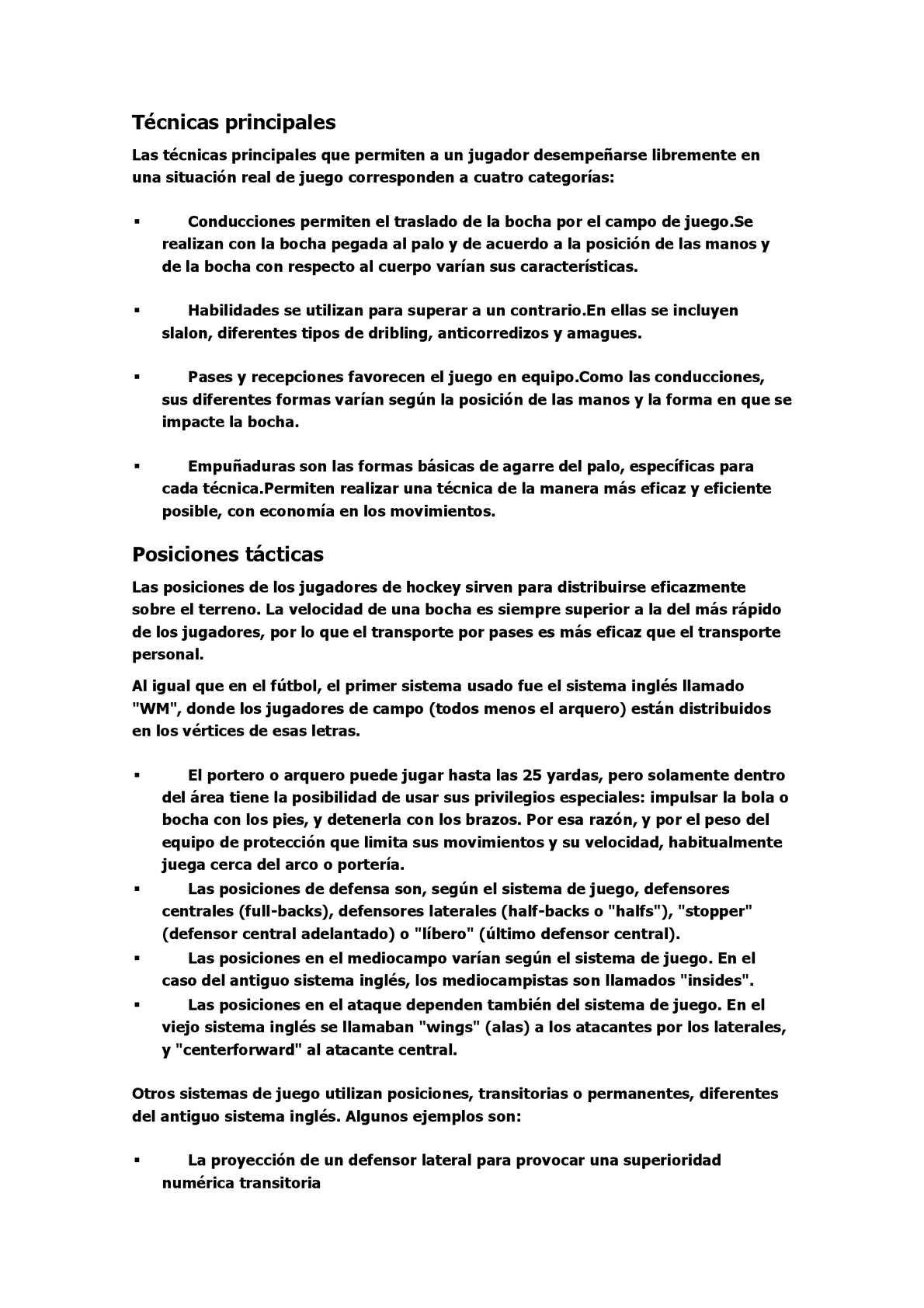 Calaméo - reglamento y practicas de hockey