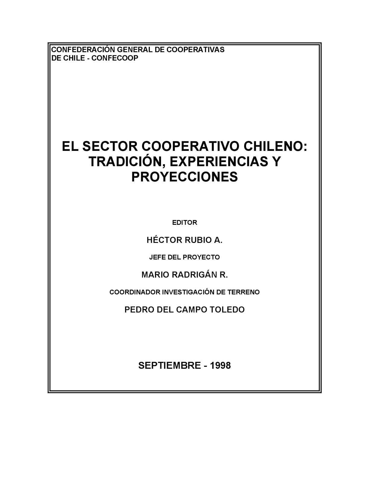 Calaméo - MarioRadrigán- Trayectoria Cooperativas En Chile - 1998