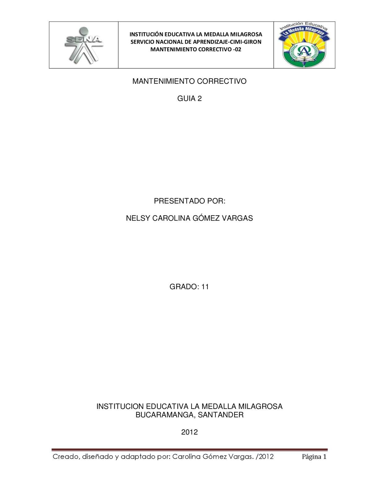GUÍA 2 MANTENIMIENTO CORRECTIVO