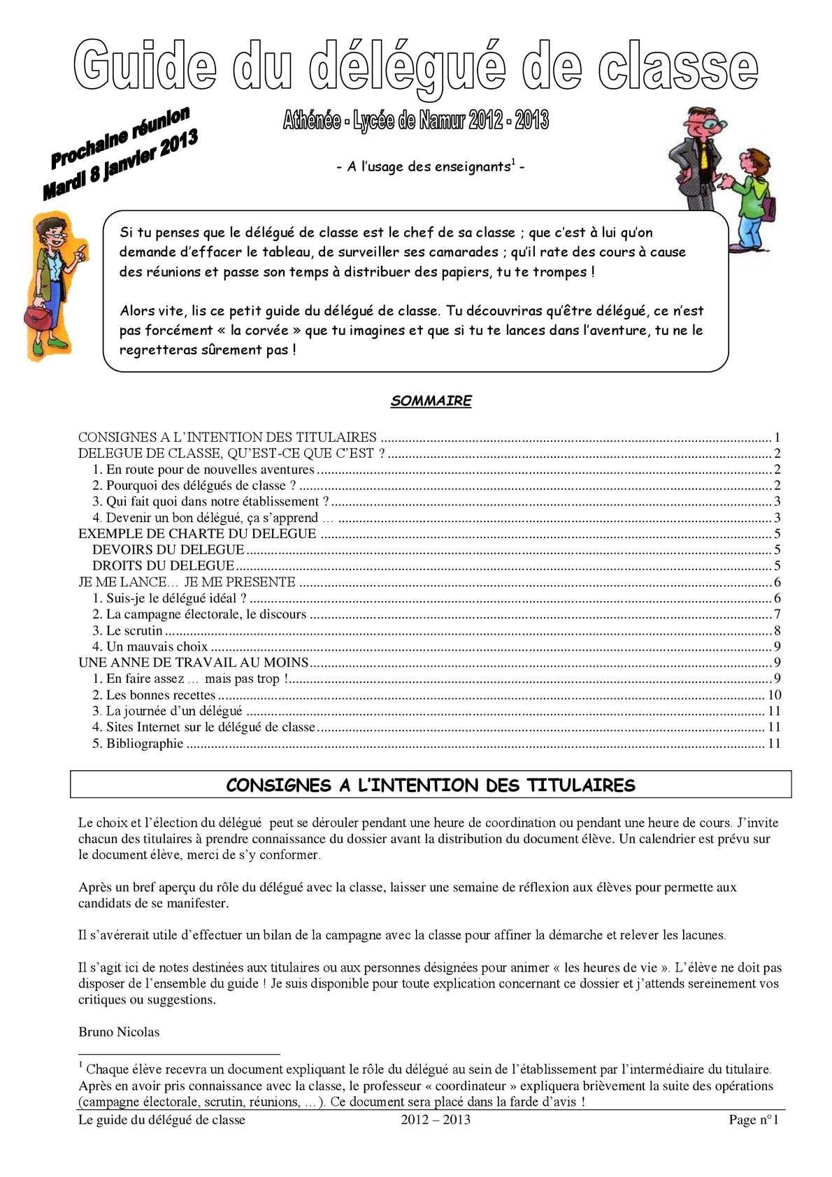 Calam o guide du d l gu de classe et de son suppl ant 2012 2013 - Formation pour etre decoratrice d interieur ...