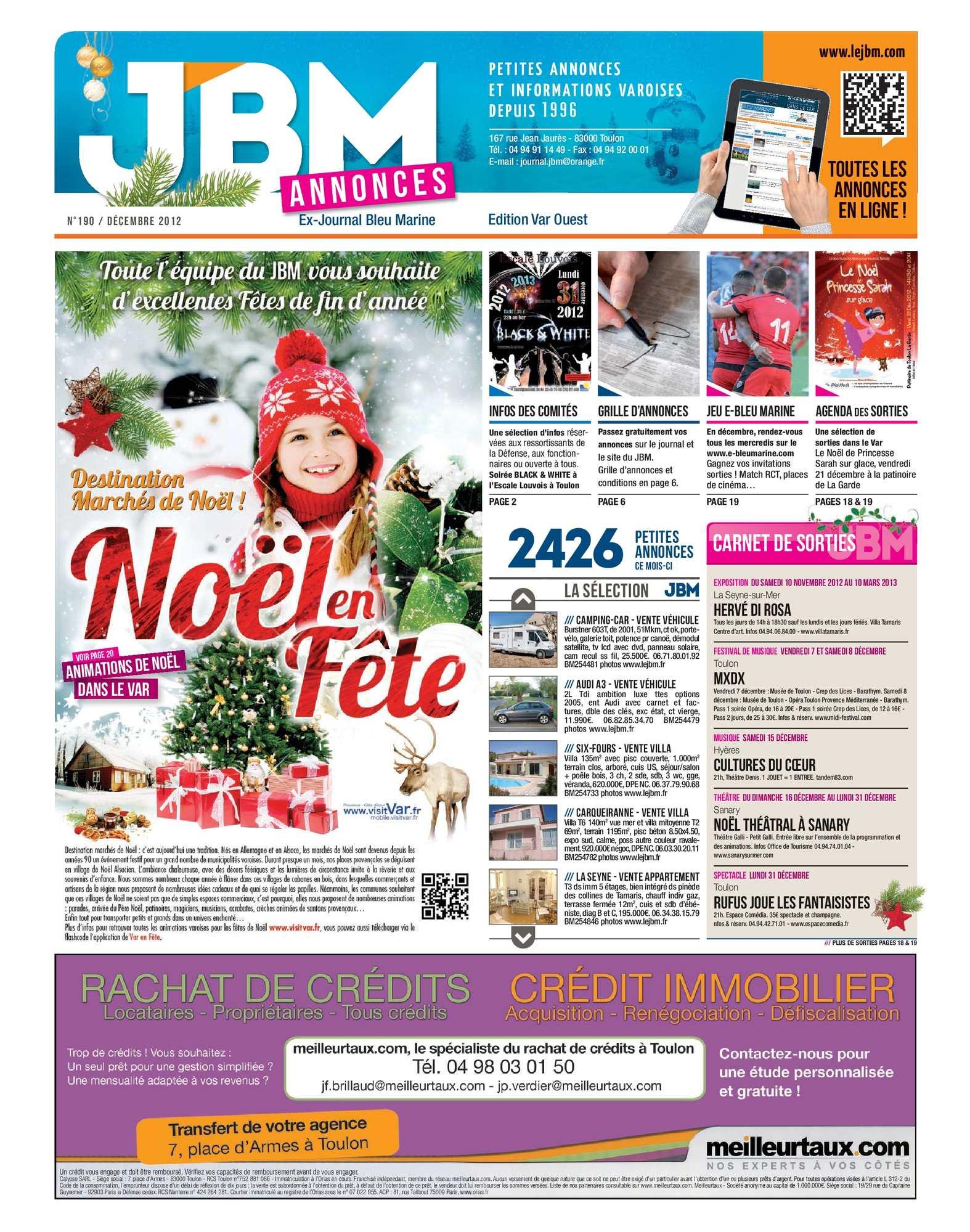 2012 Bleu Journal N°190 Marine Calaméo Décembre q8T6xZ