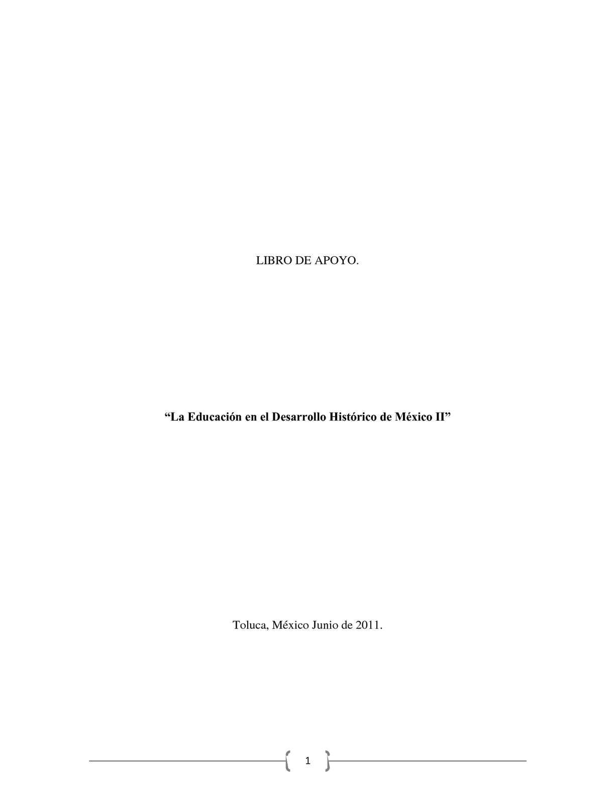 La Educación en el Desarrollo Histórico de México II