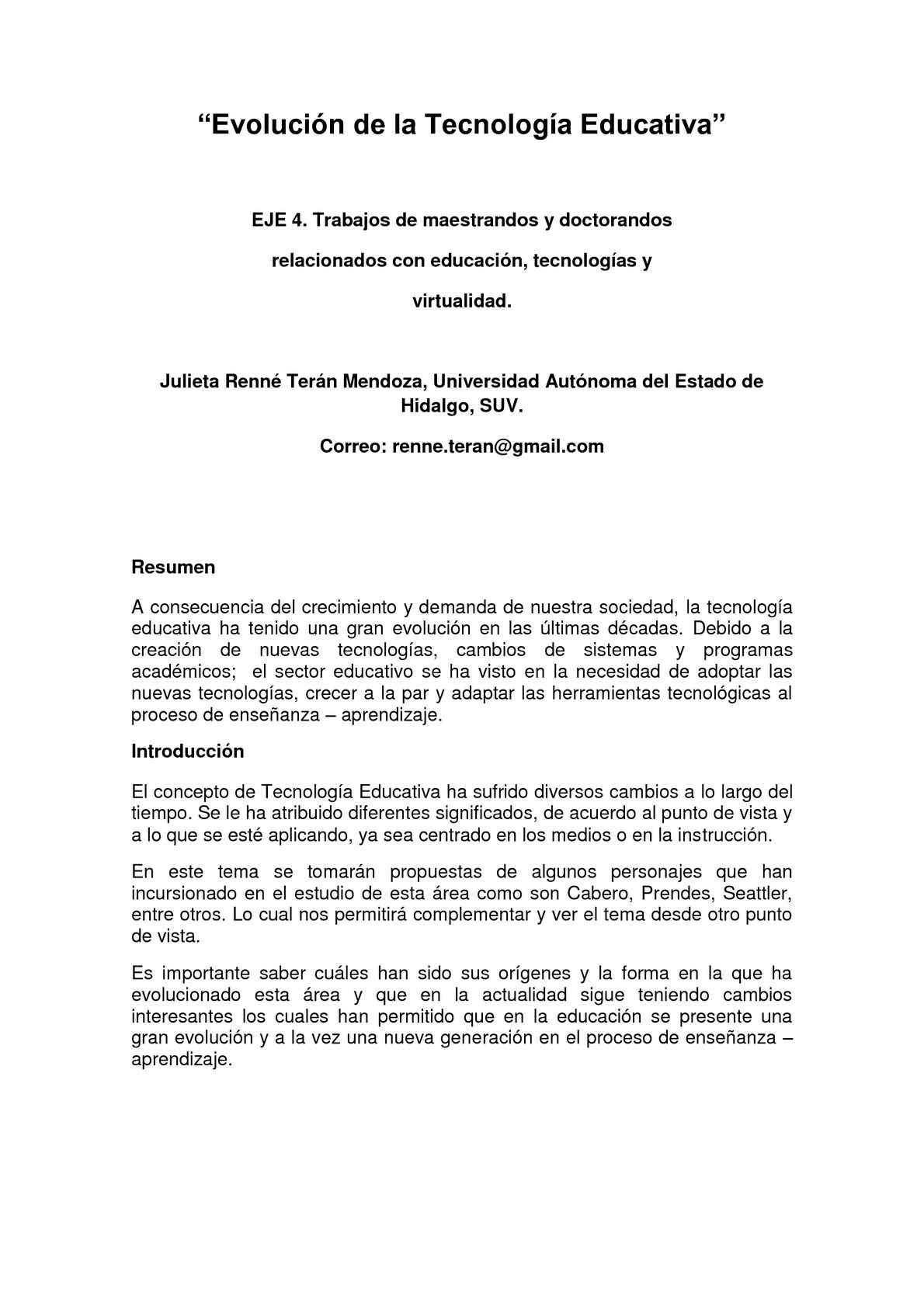 Calaméo - Evolución de la Tecnología Educativa