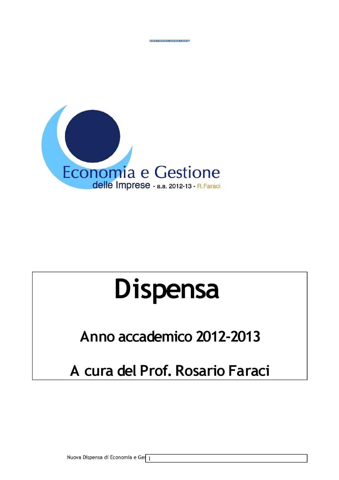 Dispensa del corso EGI 2012-2013