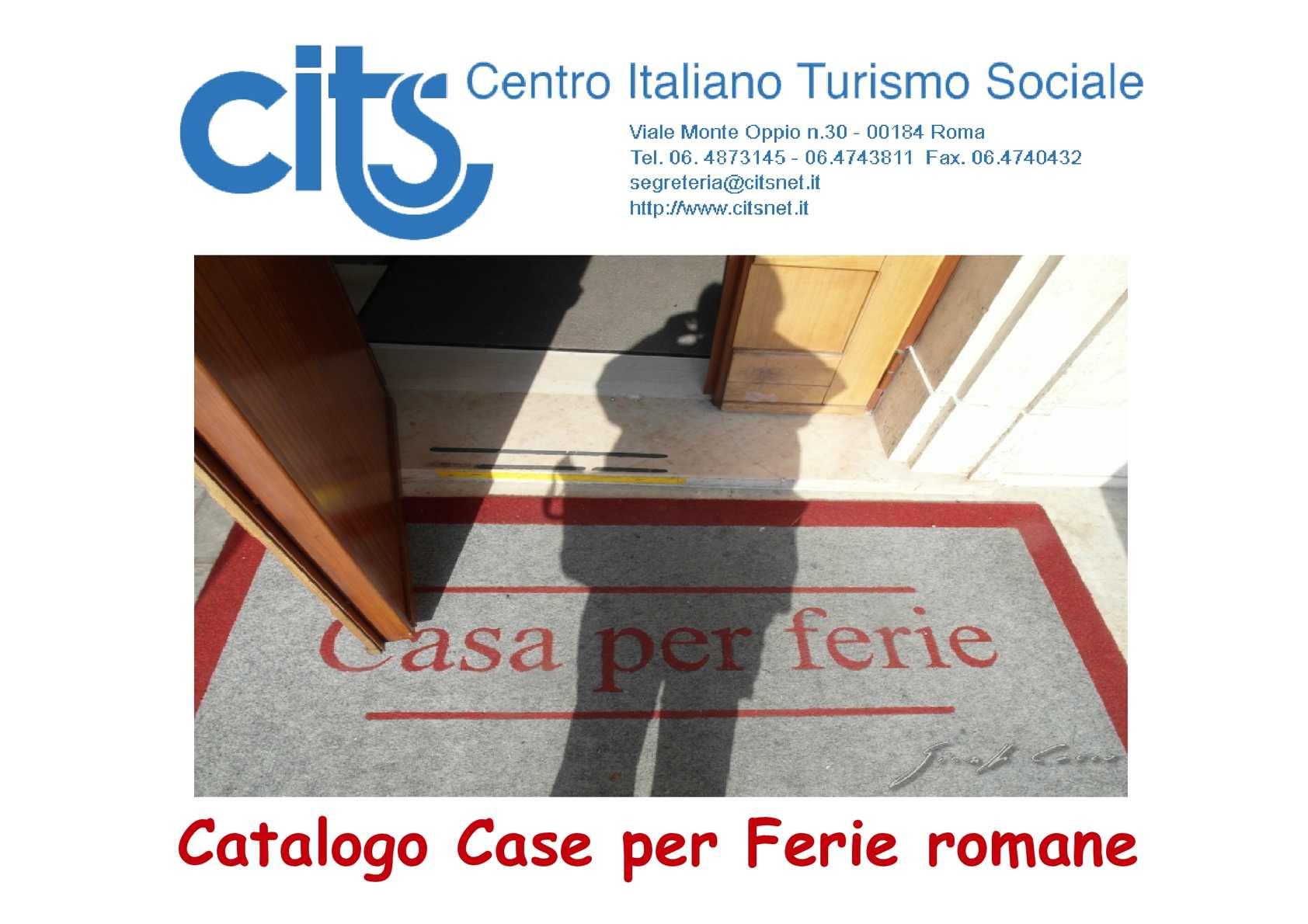 Calam o catalogo case per ferie romane del cits for Catalogo case