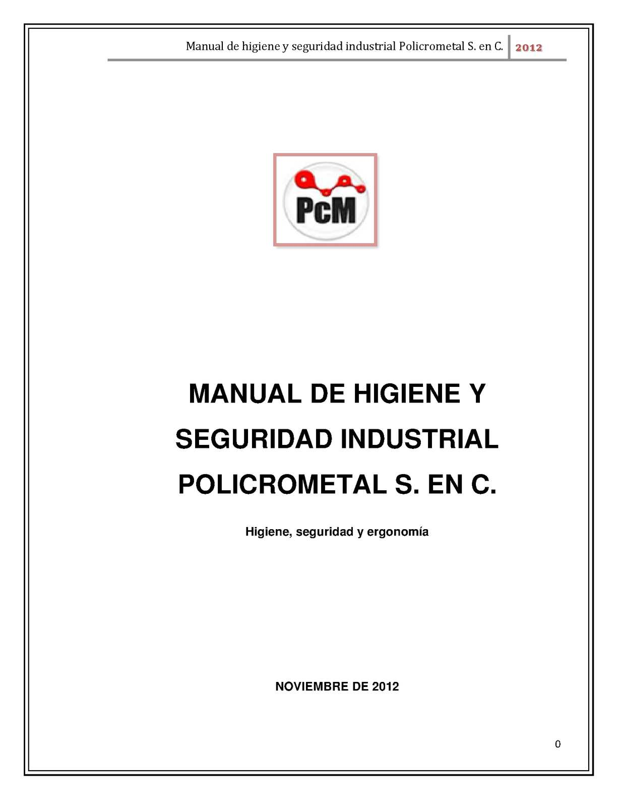 Calam o manual de higiene y seguridad for Manual de acuicultura pdf