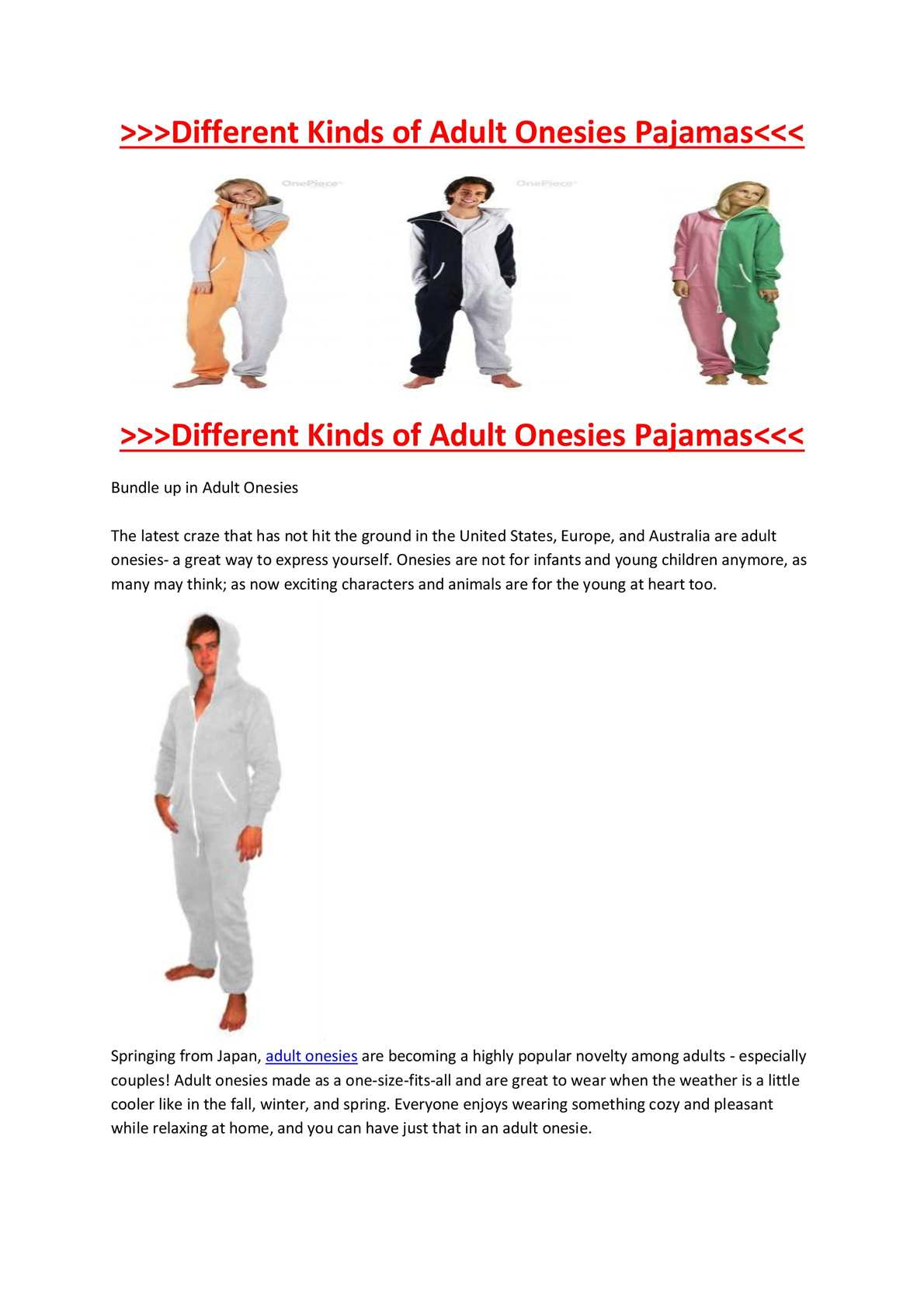 how to make a onesie for adults