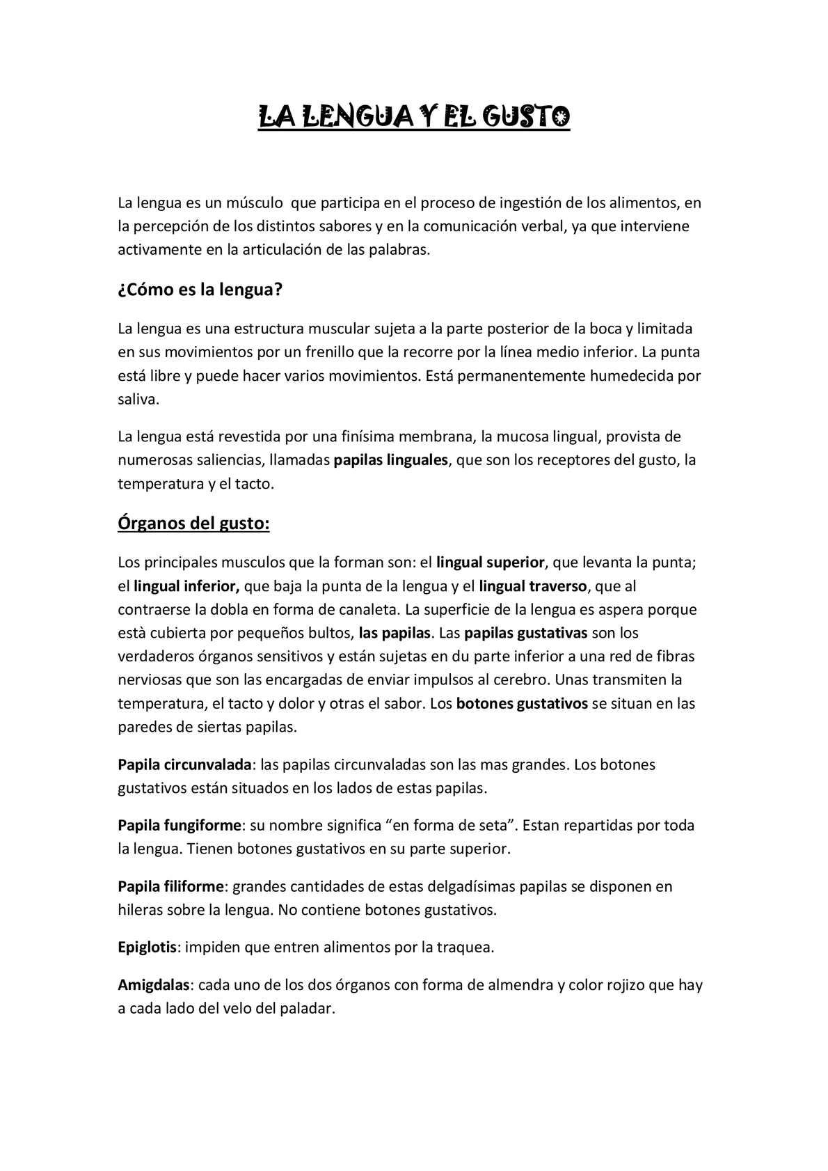Calaméo - LA LENGUA Y EL GUSTO
