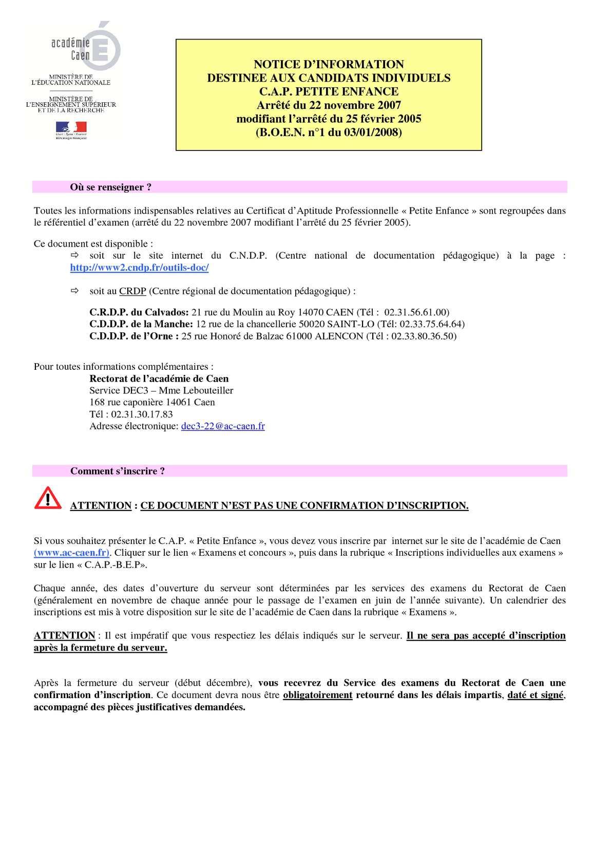 Célèbre Calaméo - Référentiel d'examen - CAP Petite enfance HG47