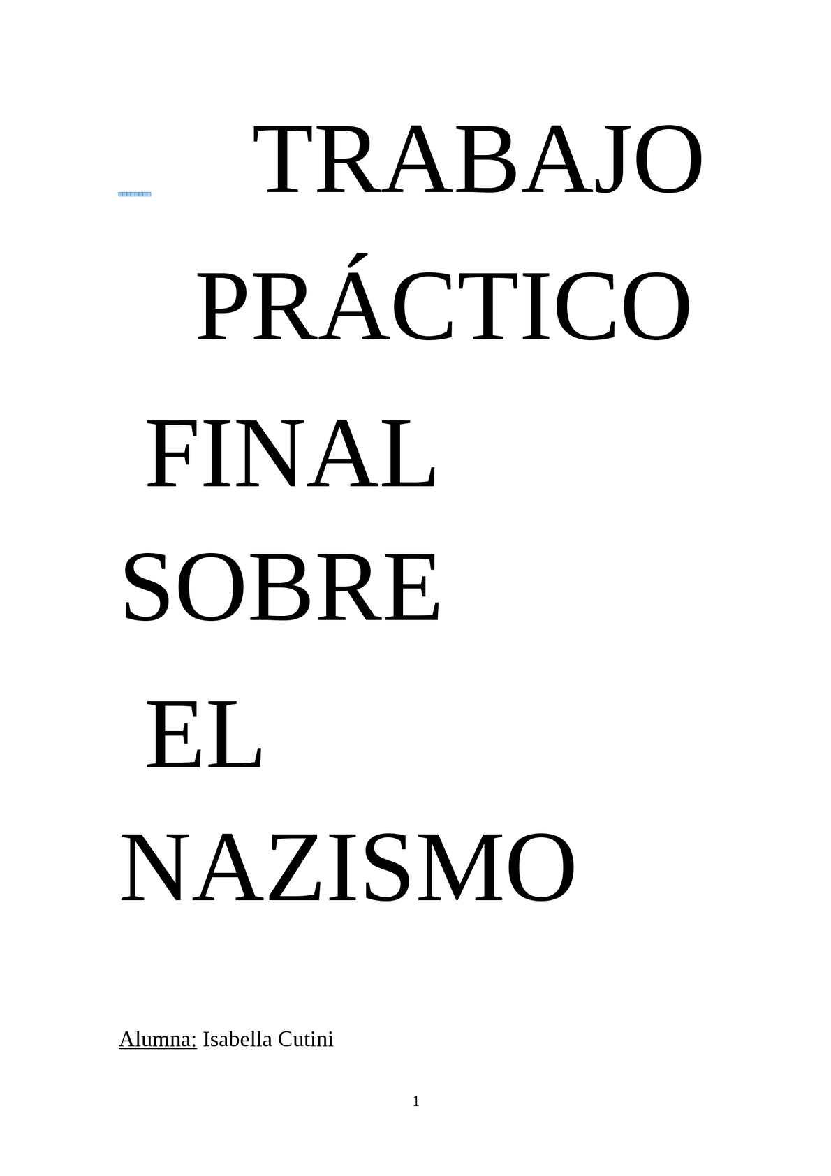 Trabajo Práctico Final Sobre El Nazismo-Cutini