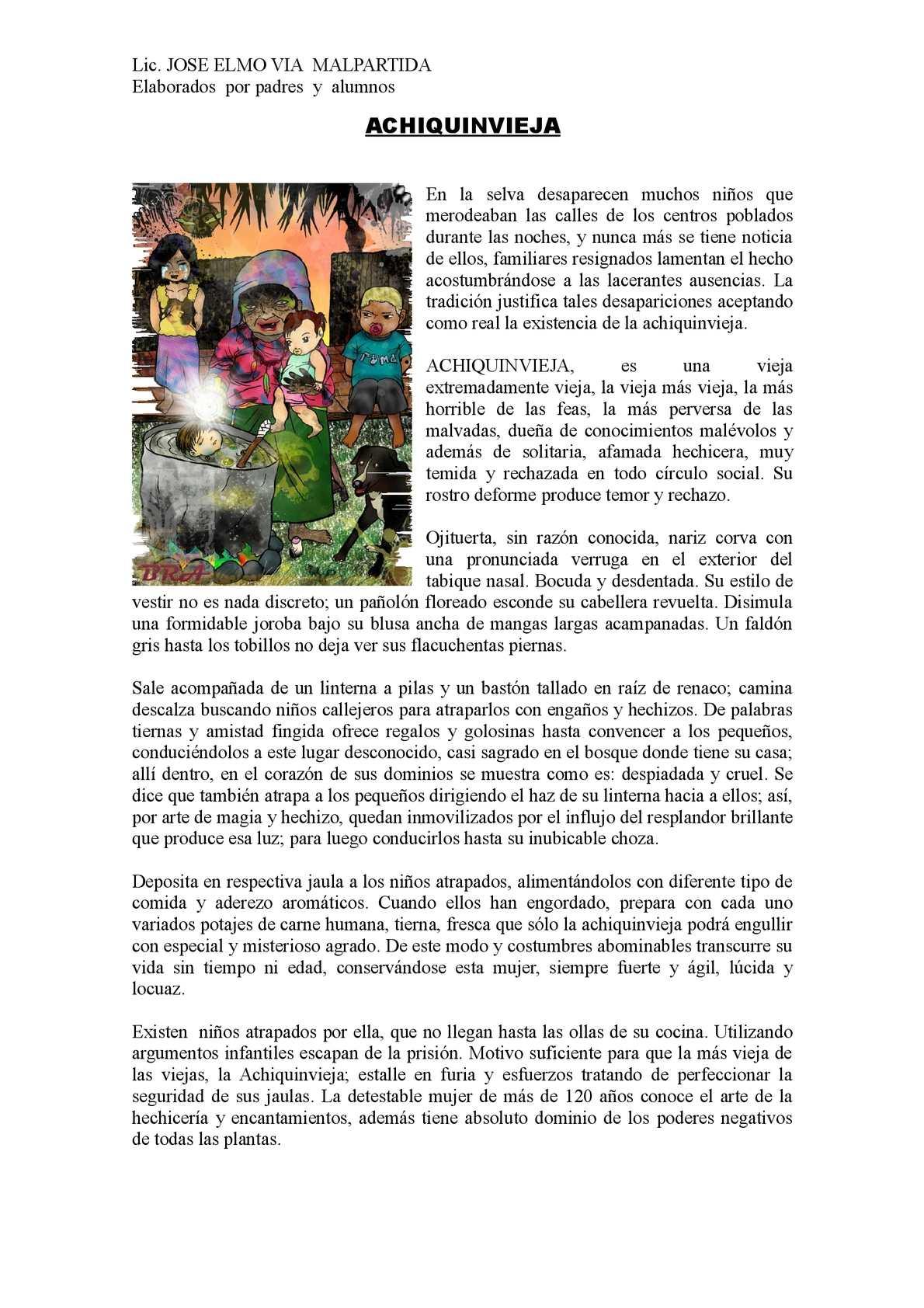 Calam o cuentos regionales for El tiempo en macanet de la selva