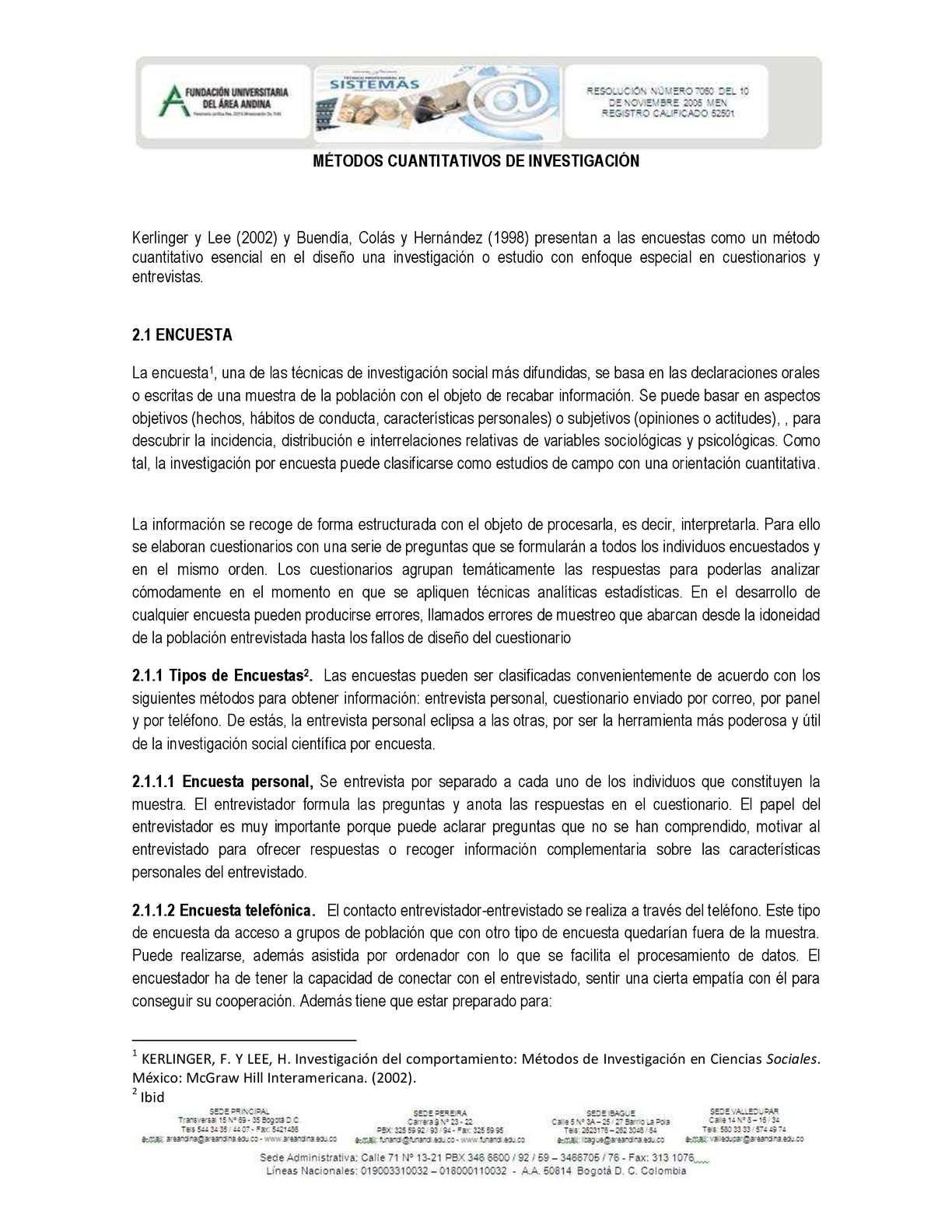 Calaméo - metodos cuantitativos de investigacion