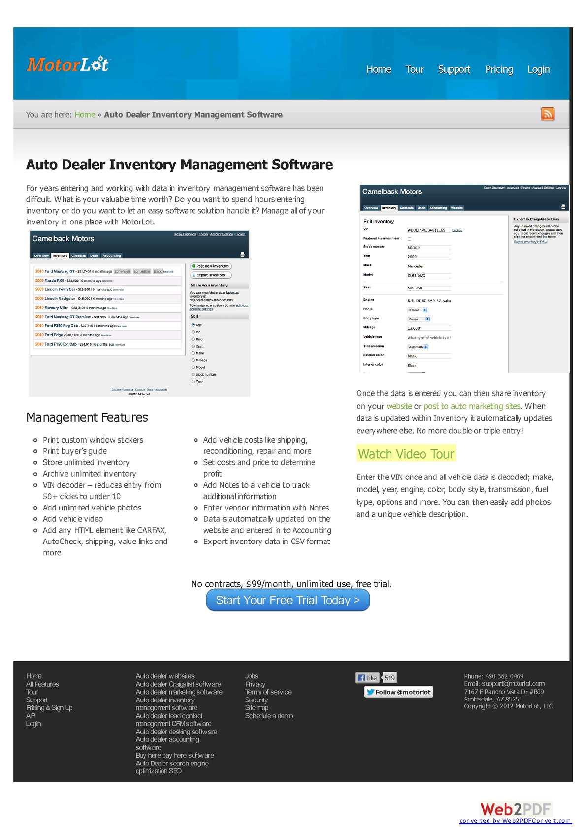 Calameo Car Dealer Software