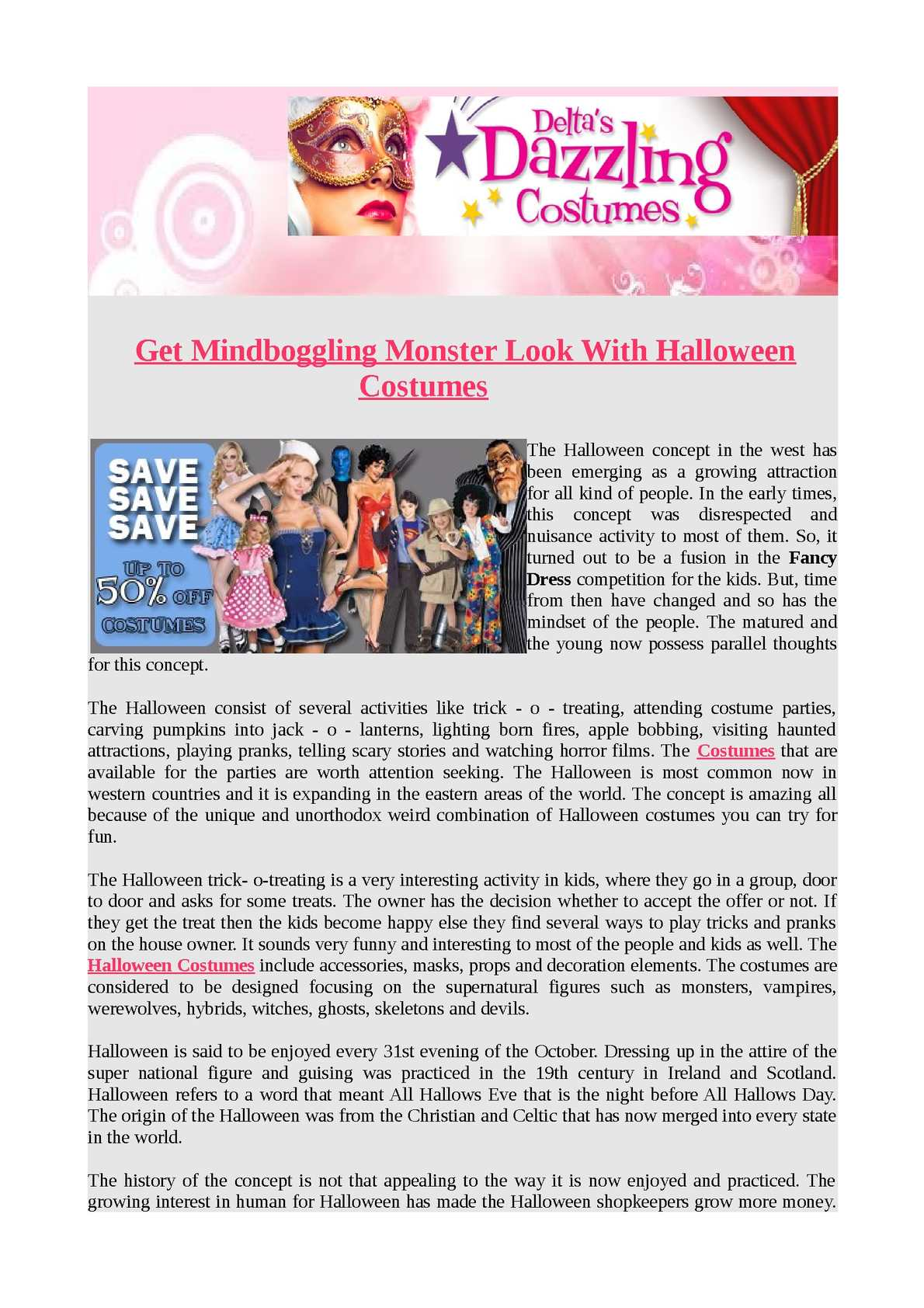 calaméo - get mindboggling monster look with halloween costumes