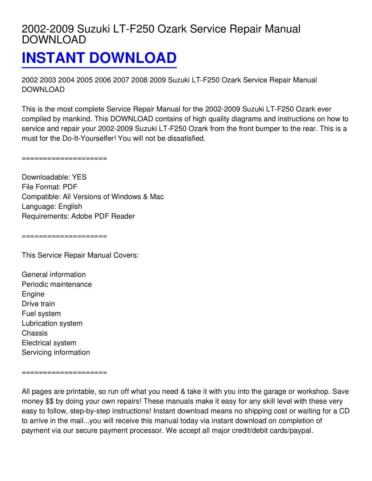 2003 f250 service manual pdf