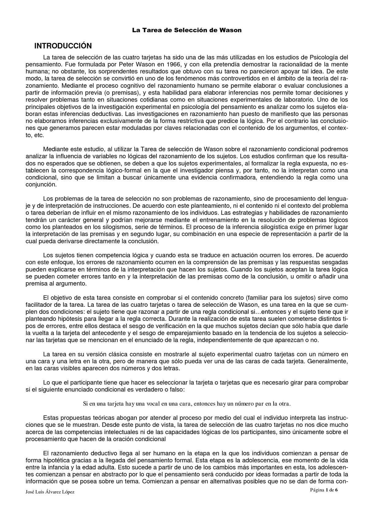 PEC_La Tarea de Selección de Wason_José Luis Álvarez López