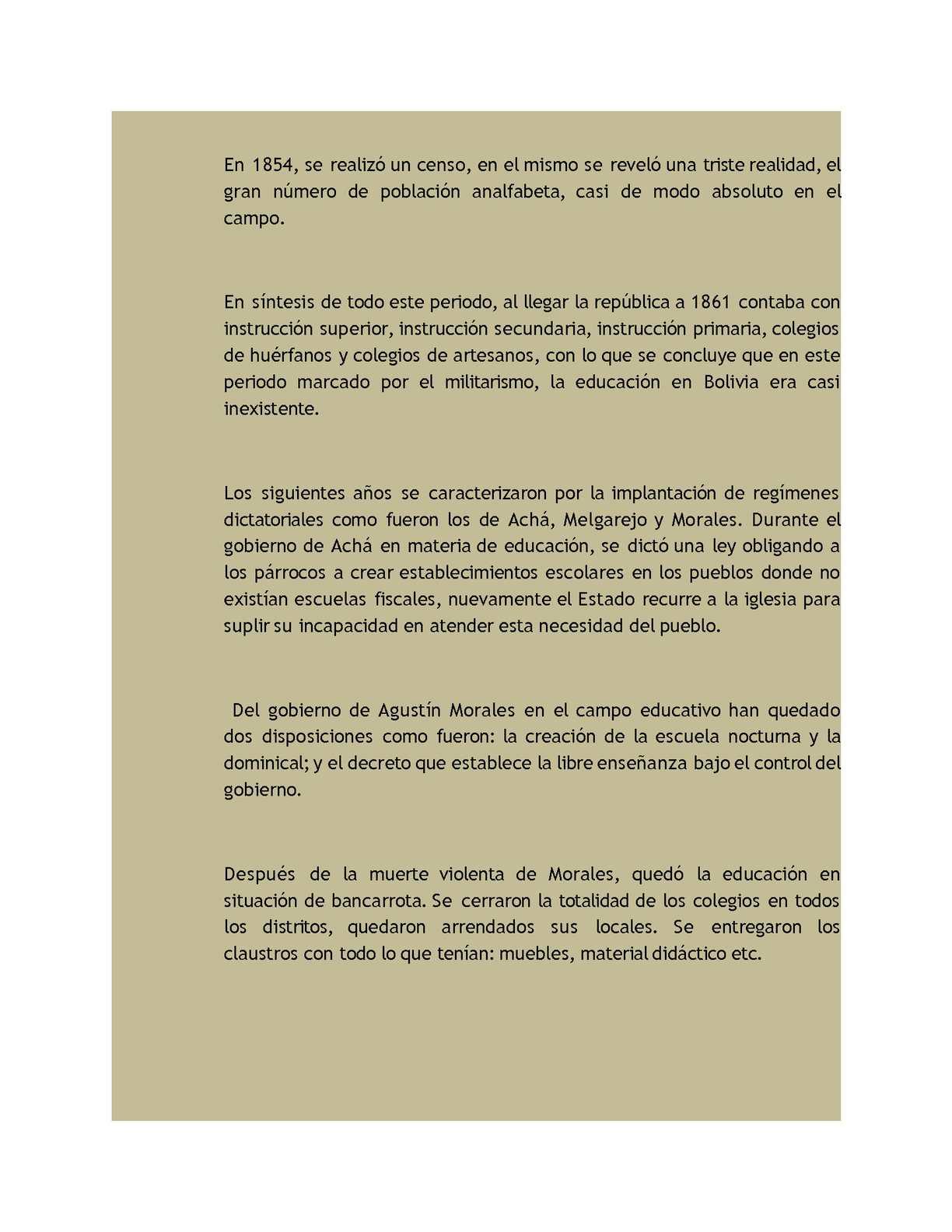 Historia De La Educaci N En Bolivia Calameo Downloader # Muebles Morales