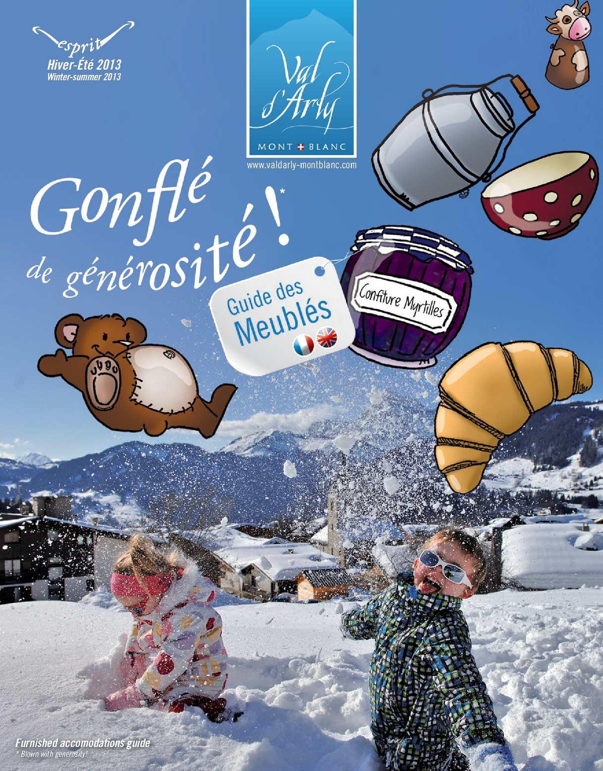 Le Guide des meublés 2012/2013 du Val d'Arly Mont-blanc