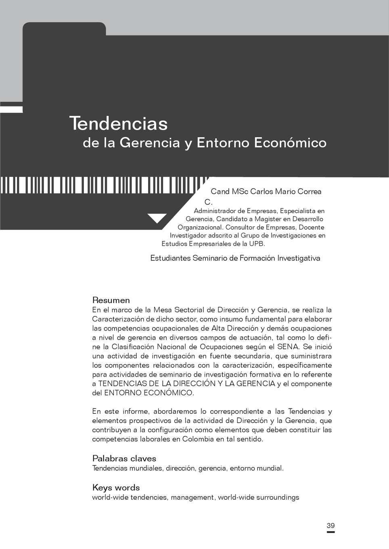 Calaméo - Tendencias Gerencia Entorno Economico