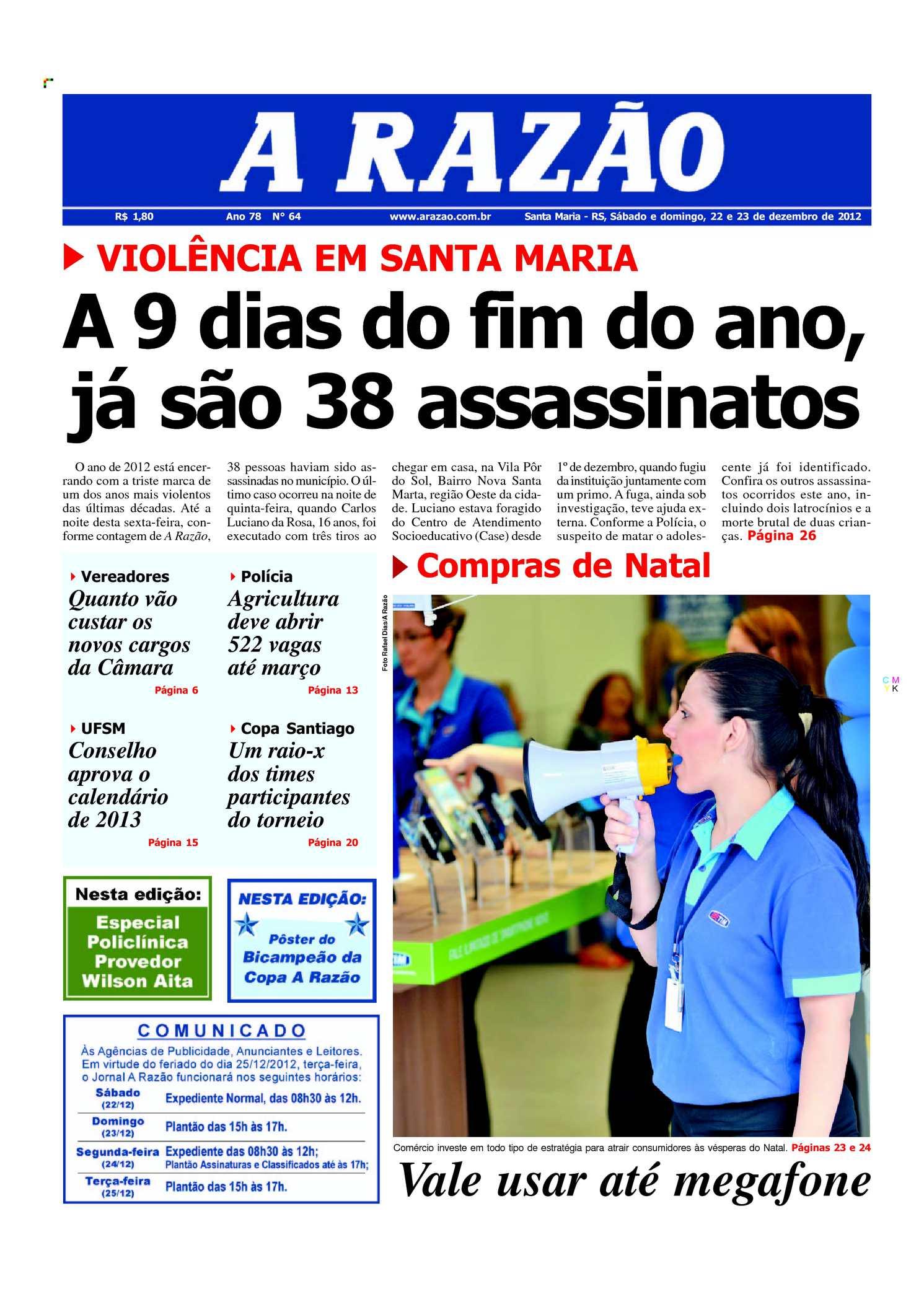 Calaméo - Jornal A Razão Santa Maria - 22122012 5ca4996e09
