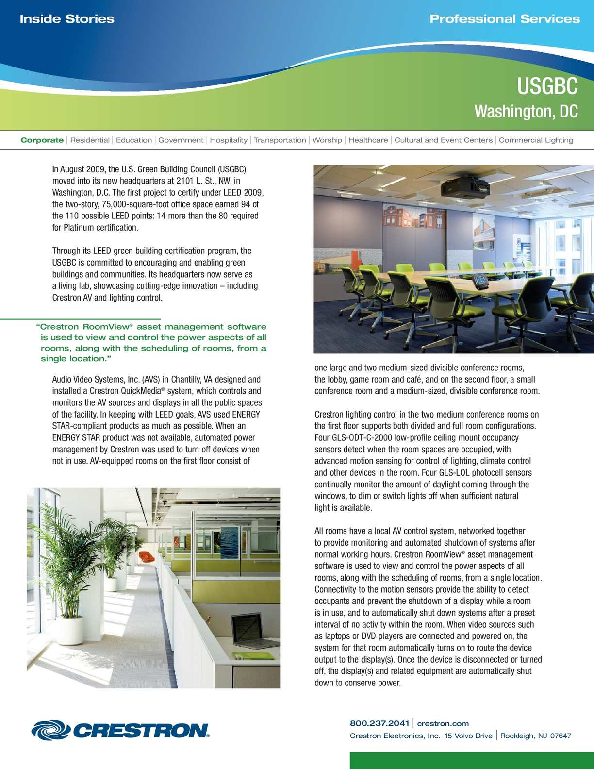 Calamo Going Green With Commercial Lighting Solutions From Creston