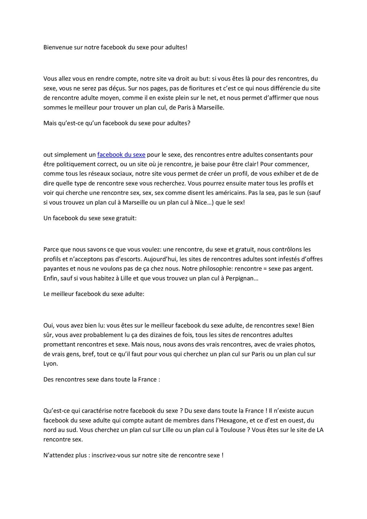 Rencontres facebook france