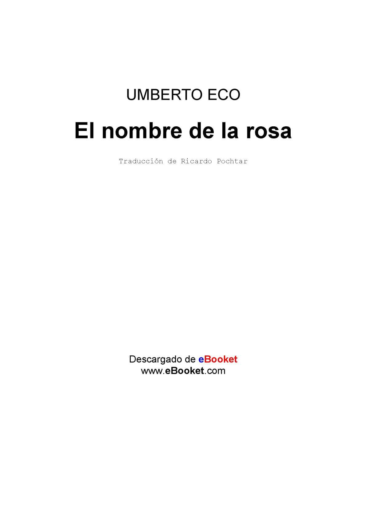 Calaméo - EL NOMBRE DE LA ROSA