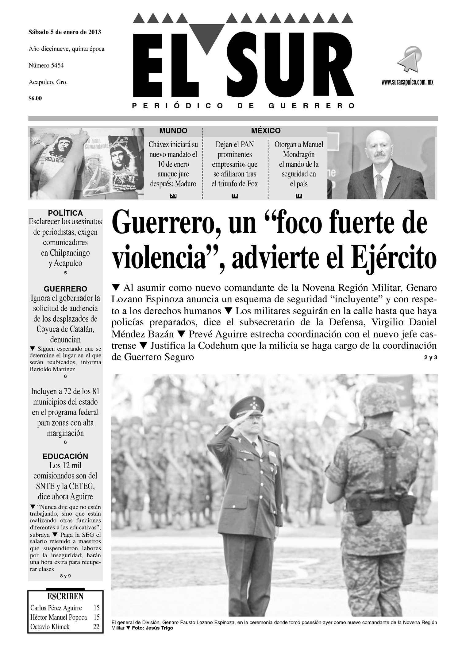 Calaméo - El Sur - 5 de enero de 2012