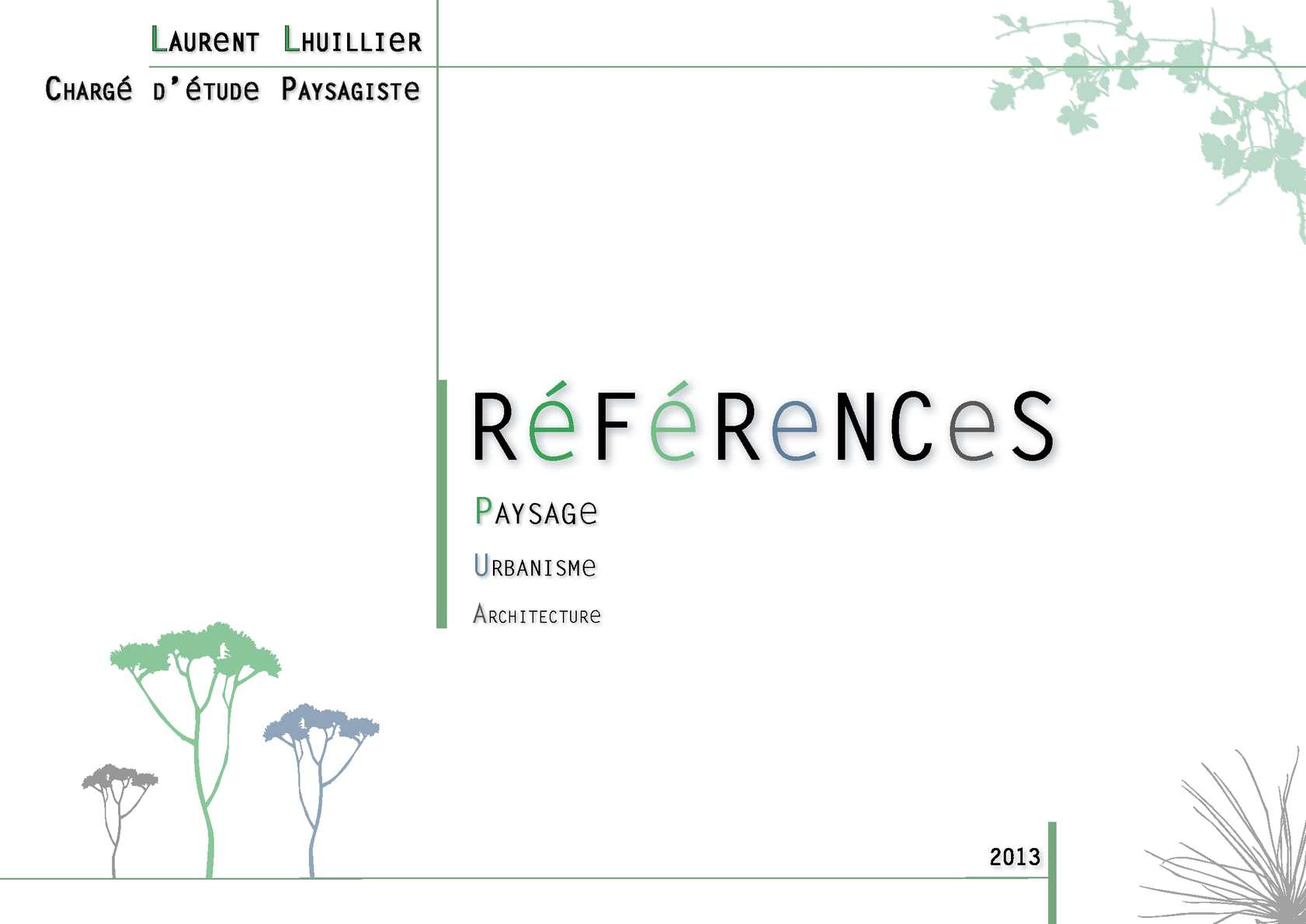 Calam o book paysagiste laurent lhuillier for Projet architecture pdf