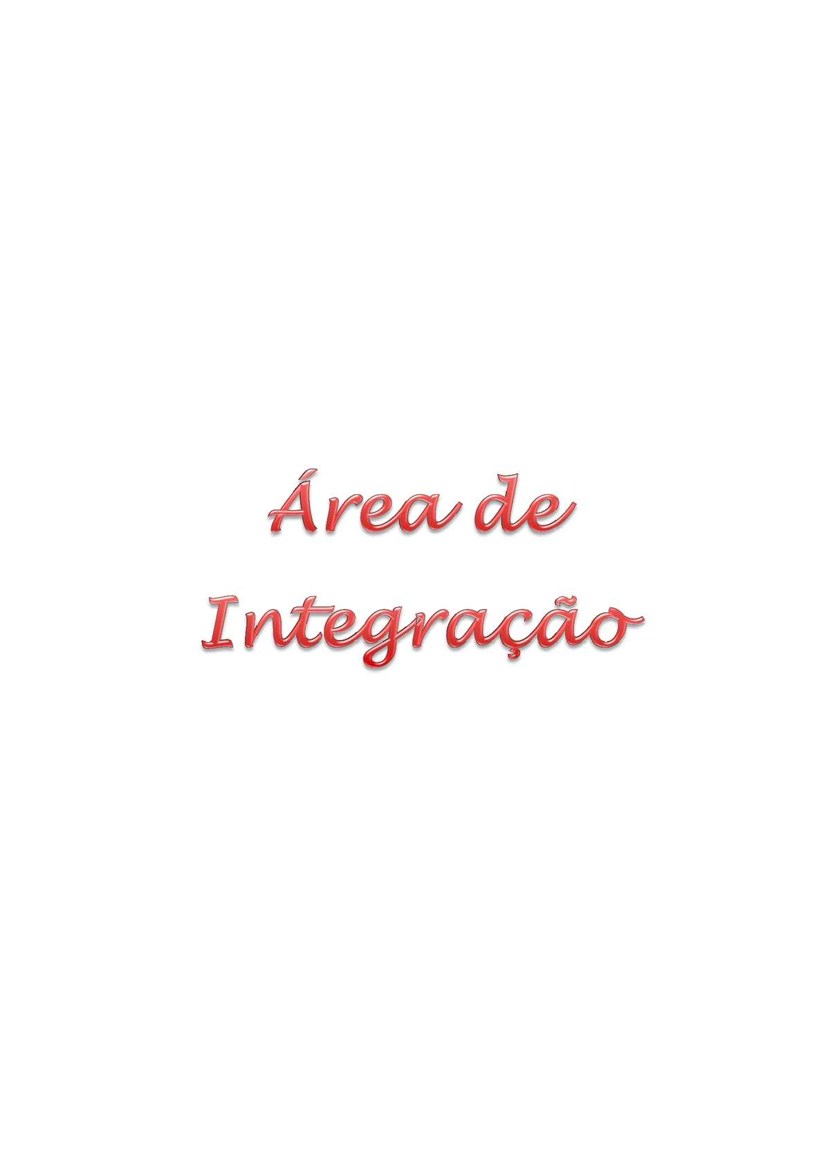 Manual de Área de Integração