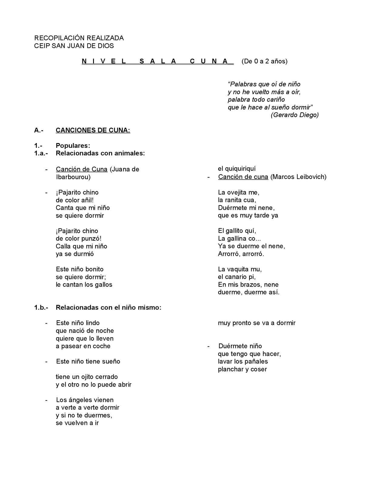 Calaméo - Recopilación de poesías infantiles
