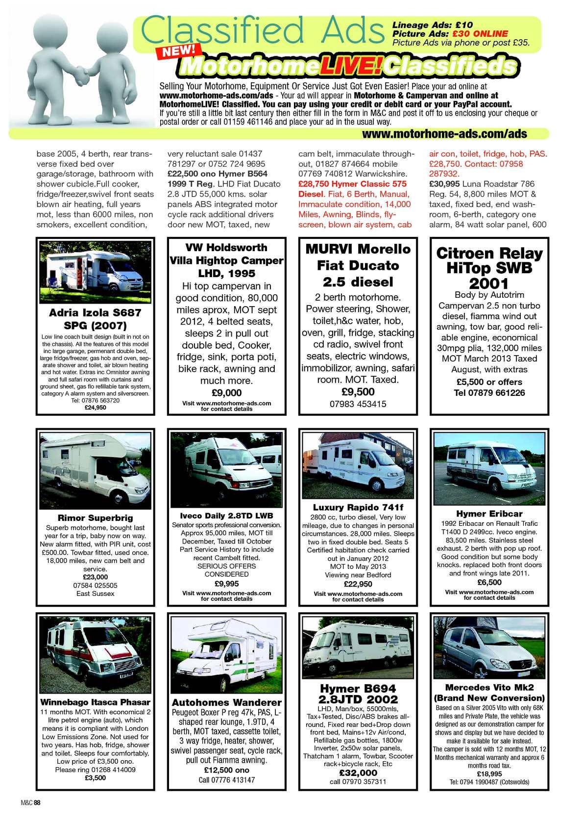 Feb 2013 motorhome campervan calameo downloader page 90 fandeluxe Gallery