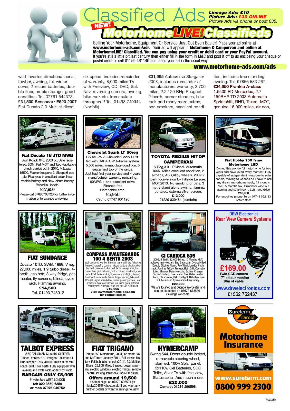 Feb 2013 motorhome campervan calameo downloader page 91 fandeluxe Gallery