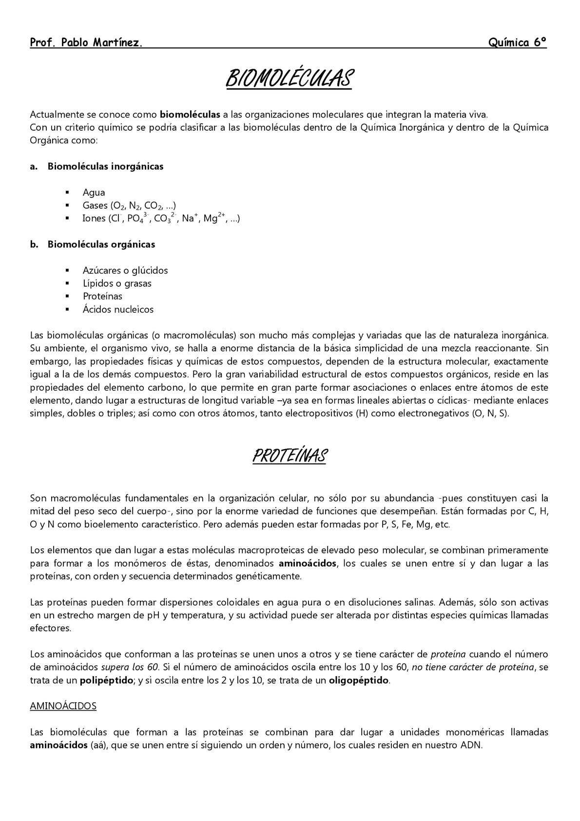 Proteínas (teórico, particular)