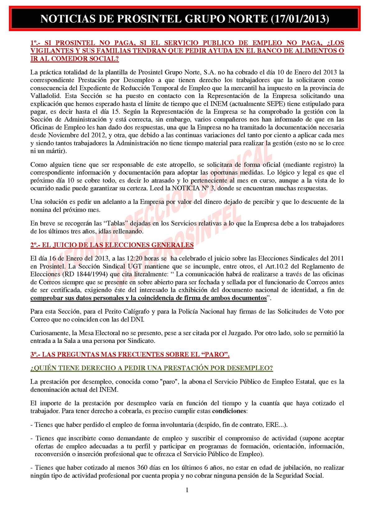 Calaméo - NOTICIAS DE PROSINTEL GRUPO NORTE (17/01/2013)