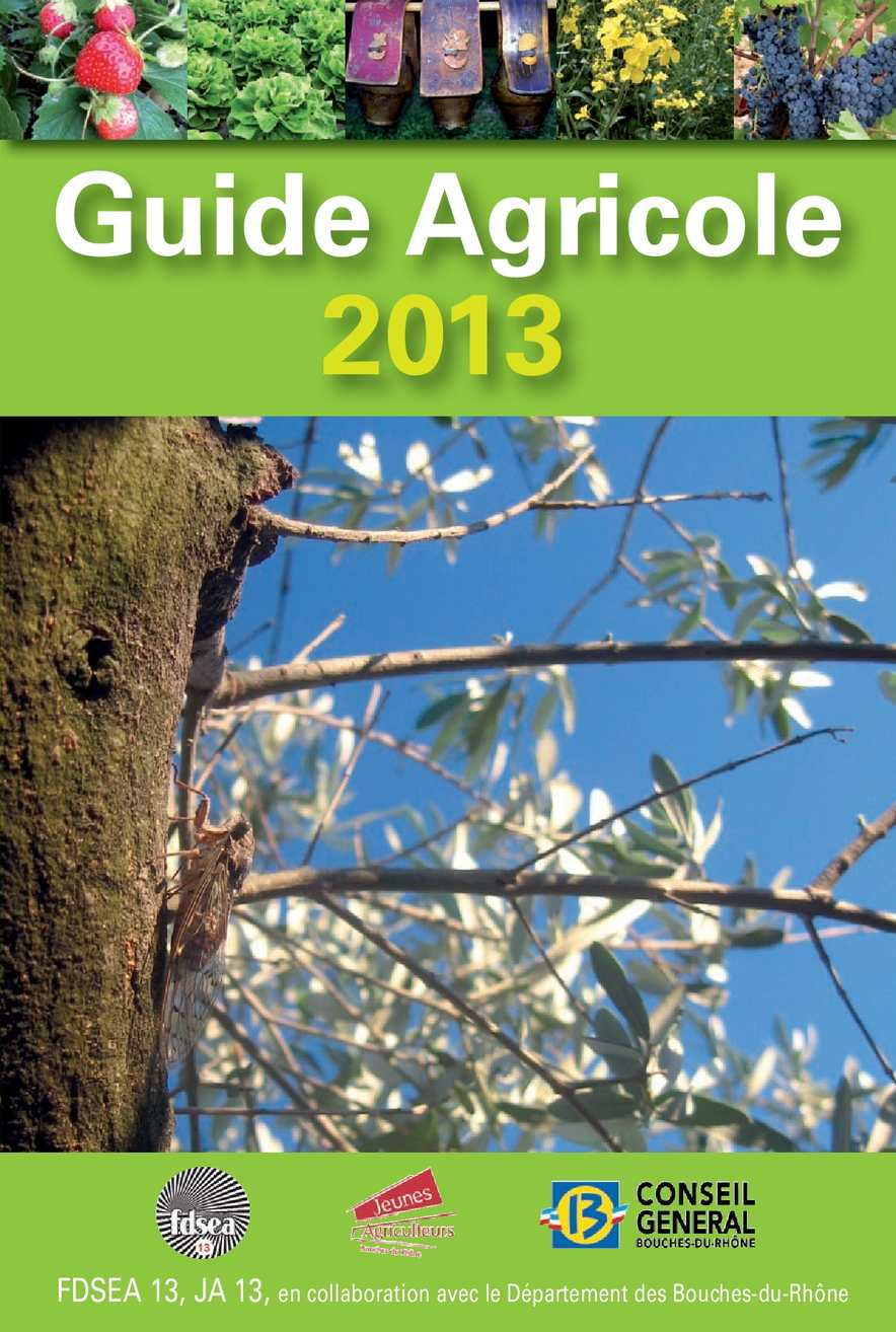 Calam o guide agricole des bouches du rh ne 2013 for Chambre de metiers des bouches du rhone