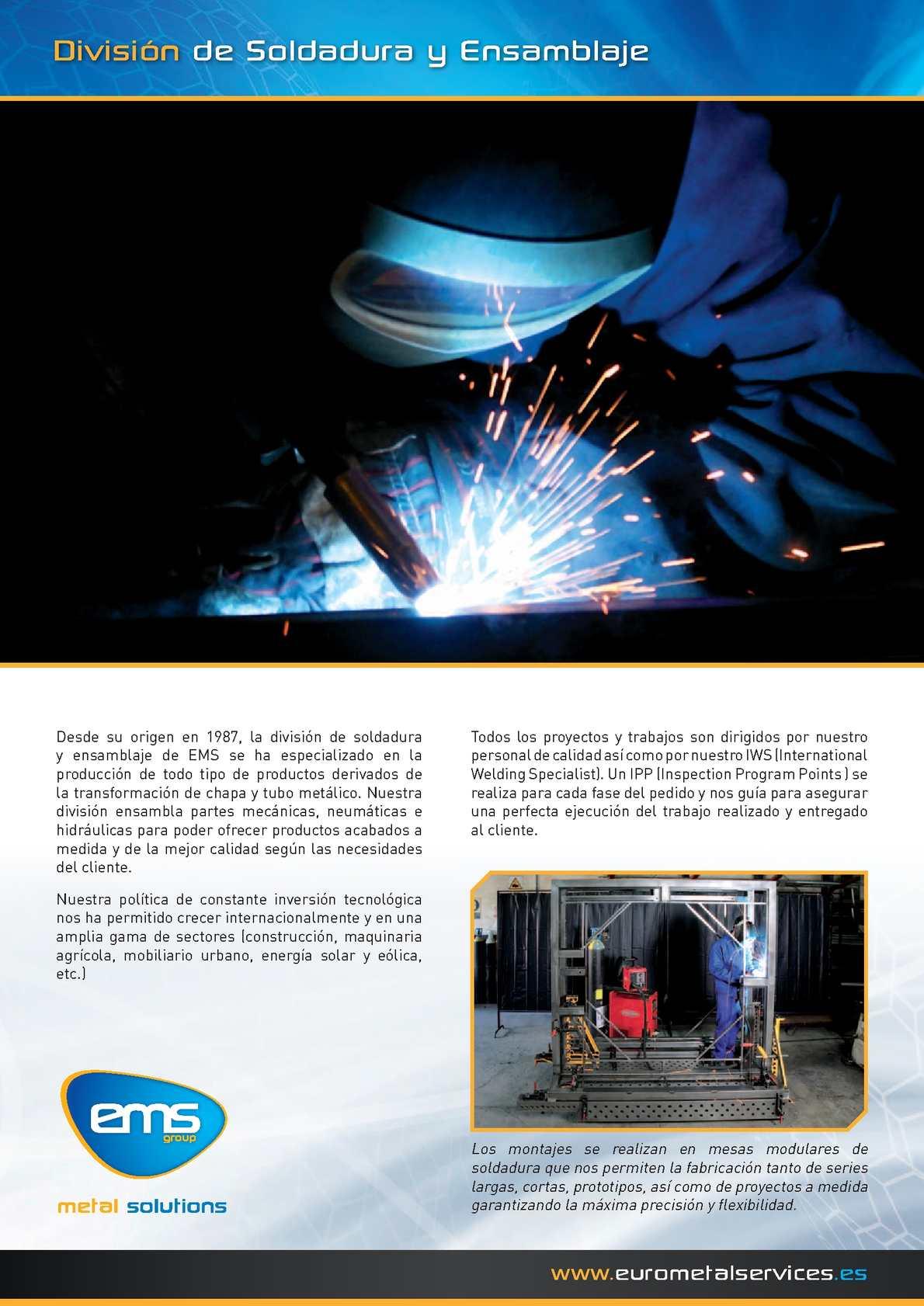 Division de Soldadura y Ensamblaje - EMS Group ( Español )