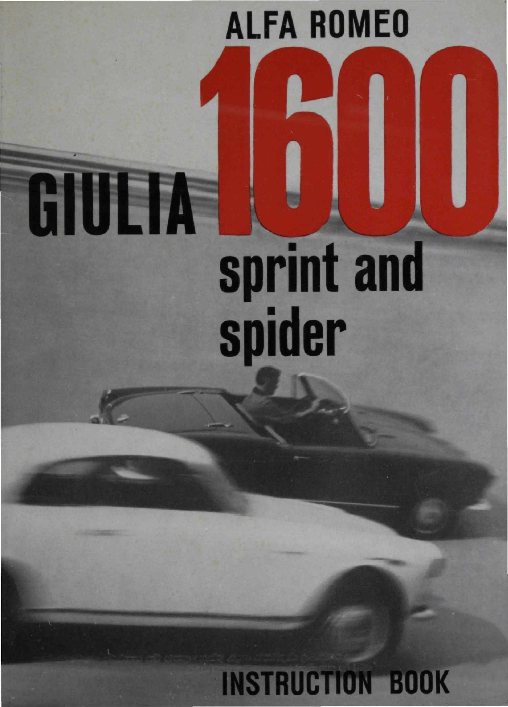 Calamo 1962 Alfa Romeo 1600 Sprint E Spider Uso Manutenzione 155 Wiring Diagram